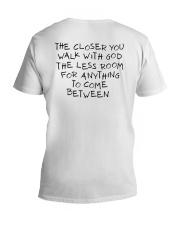 The Closer You Walk With God V-Neck T-Shirt thumbnail