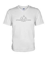If The Mountains Bow In Reverence So Will I V-Neck T-Shirt thumbnail