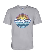 God Is Good V-Neck T-Shirt thumbnail