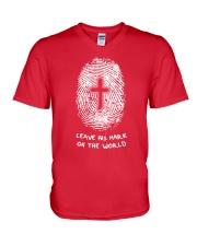 Leave His Mark On The World V-Neck T-Shirt thumbnail