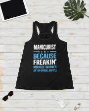 Manicurist because freakin miracle worker Ladies Flowy Tank lifestyle-bellaflowy-tank-front-5