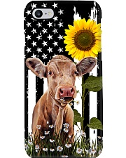 Cow and sunflower usa Phone Case i-phone-8-case