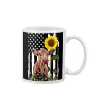 Cow and sunflower usa Mug tile