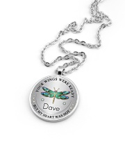 Your wings were ready but my heart was not Metallic Circle Necklace aos-necklace-circle-metallic-lifestyle-05