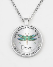 Your wings were ready but my heart was not Metallic Circle Necklace aos-necklace-circle-metallic-lifestyle-07