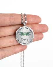 Your wings were ready but my heart was not Metallic Circle Necklace aos-necklace-circle-metallic-lifestyle-10