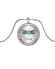 Your wings were ready but my heart was not Metallic Circle Necklace front