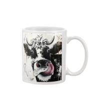 cow hello Mug tile