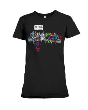 Thats How I Saved The World Jesus Superheros Premium Fit Ladies Tee thumbnail