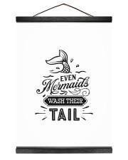 Even Mermaids Wash Their Tail 12x16 Black Hanging Canvas thumbnail