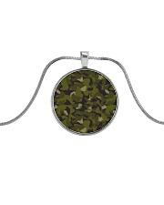 The Swedish M90 woodland camouflage Metallic Circle Necklace thumbnail