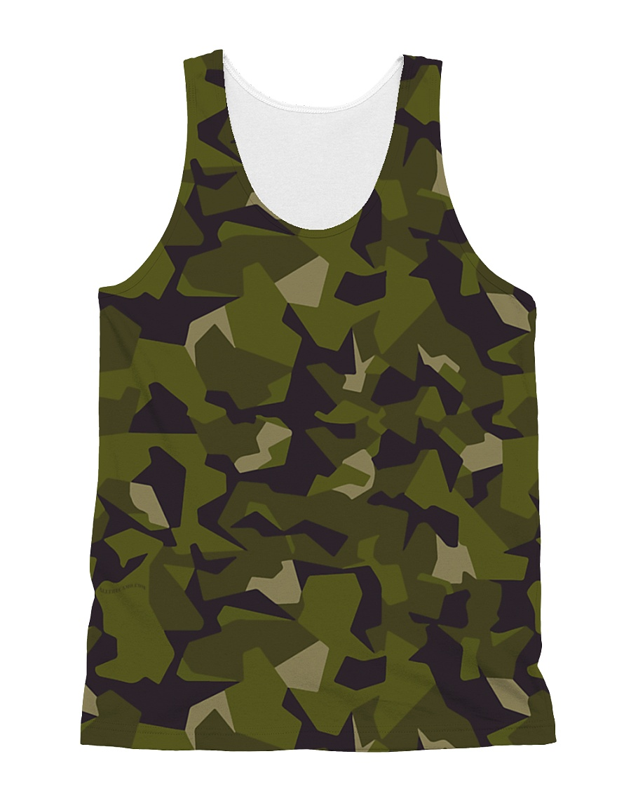 The Swedish M90 woodland camouflage All-over Unisex Tank