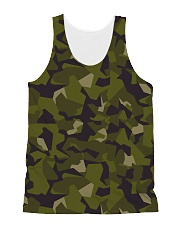 The Swedish M90 woodland camouflage All-over Unisex Tank front