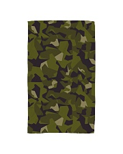 The Swedish M90 woodland camouflage Hand Towel tile