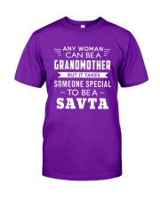 Any woman can be a grandmother but it takes  Classic T-Shirt front