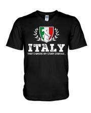 ITALY That's Where My Story V-Neck T-Shirt thumbnail