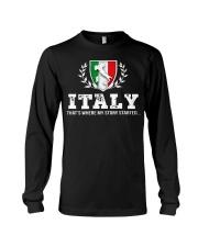 ITALY That's Where My Story Long Sleeve Tee thumbnail