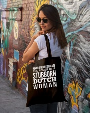 Never Underestimate the power of a stubborn dutch Tote Bag lifestyle-totebag-front-1