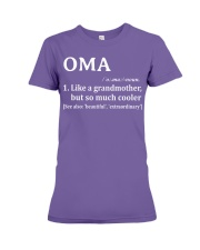 Oma - much cooler Premium Fit Ladies Tee thumbnail