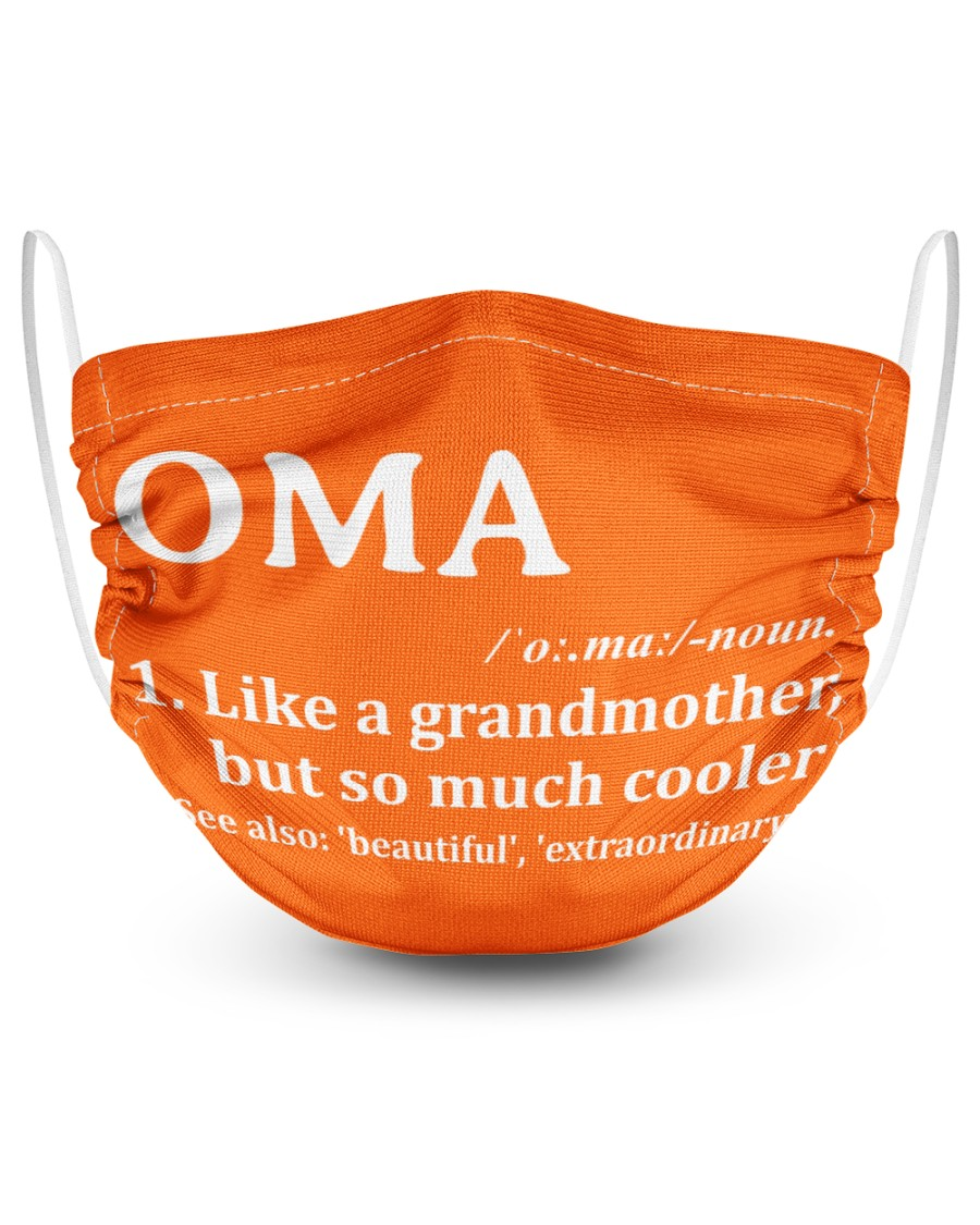 Oma - much cooler 2 Layer Face Mask - Single
