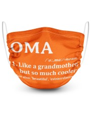 Oma - much cooler 2 Layer Face Mask - Single front