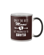 Best Moms get promoted to Savta Color Changing Mug thumbnail