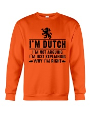 I'm Dutch - I'm not arguing Crewneck Sweatshirt thumbnail