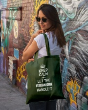 Keep calm and let the Italian girl handle it Tote Bag lifestyle-totebag-front-1