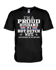I'm a proud husband of a hot Dutch wife V-Neck T-Shirt thumbnail