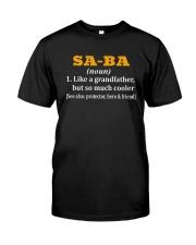 SA-BA noun Classic T-Shirt front