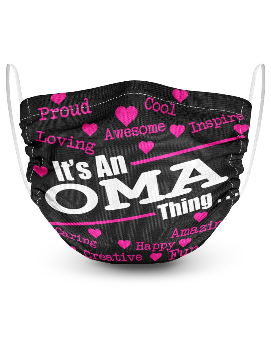 Oma thing 2 Layer Face Mask - Single