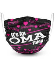 Oma thing 2 Layer Face Mask - Single front