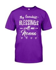 My greatest blessings call me Nonna Classic T-Shirt front