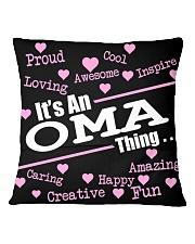Oma thing Square Pillowcase back