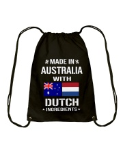 Made In Australia With Dutch Ingredients Drawstring Bag thumbnail