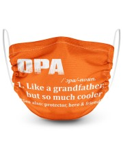Opa - much cooler 2 Layer Face Mask - Single front