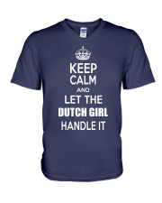 KEEP CALM and let the Dutch girl handle it V-Neck T-Shirt thumbnail