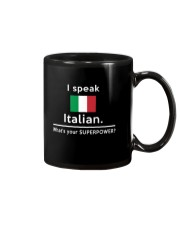 I speak Italian what is your Superpower Mug front