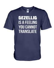 Gezellig is a feeling you cannot translate V-Neck T-Shirt thumbnail