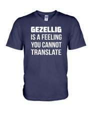 Gezellig is a feeling you cannot translate V-Neck T-Shirt tile