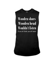 Wooden shoes wooden head wouldn't listen Sleeveless Tee tile