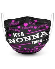 Nonna thing 2 Layer Face Mask - Single front