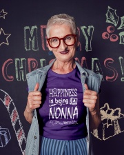 HAPPINESS IS BEING A NONNA Ladies T-Shirt lifestyle-holiday-crewneck-front-3