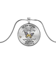 TILL MIN DOTTER Metallic Circle Necklace front