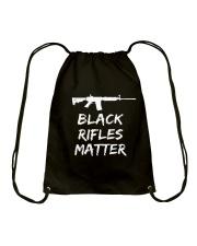 Black Rifles Matter Shirt Drawstring Bag thumbnail