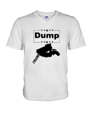 FUNNY ANTI-TRUMP DUMP TRUMP POLITICAL SHIRT V-Neck T-Shirt thumbnail