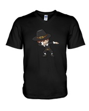 DABBING PILGRIM AND DABBING TURKEY T-SHIRT V-Neck T-Shirt thumbnail