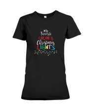 My Favorite Color Is Christmas Lights T-Shirt Premium Fit Ladies Tee thumbnail