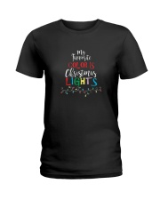 My Favorite Color Is Christmas Lights T-Shirt Ladies T-Shirt thumbnail