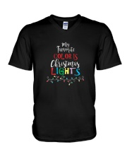 My Favorite Color Is Christmas Lights T-Shirt V-Neck T-Shirt thumbnail